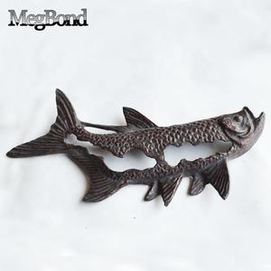 Cast iron metal fish 3D wall art for home decor
