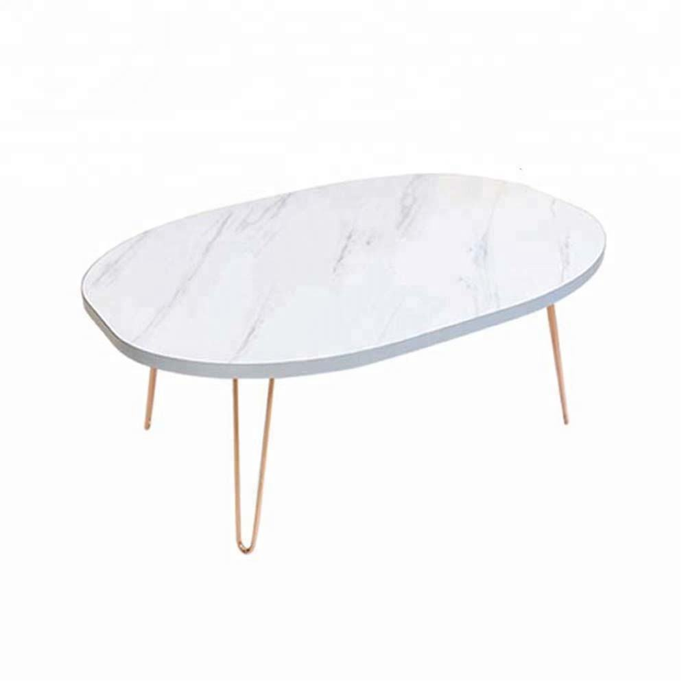 marble pvc film pressed dining folding MDF floor table