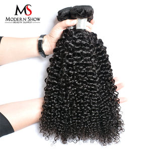 Modern Show Hair Products Factory Wholesale Price Kinky Curly Hair Weave Natural Color 100g One Bundle