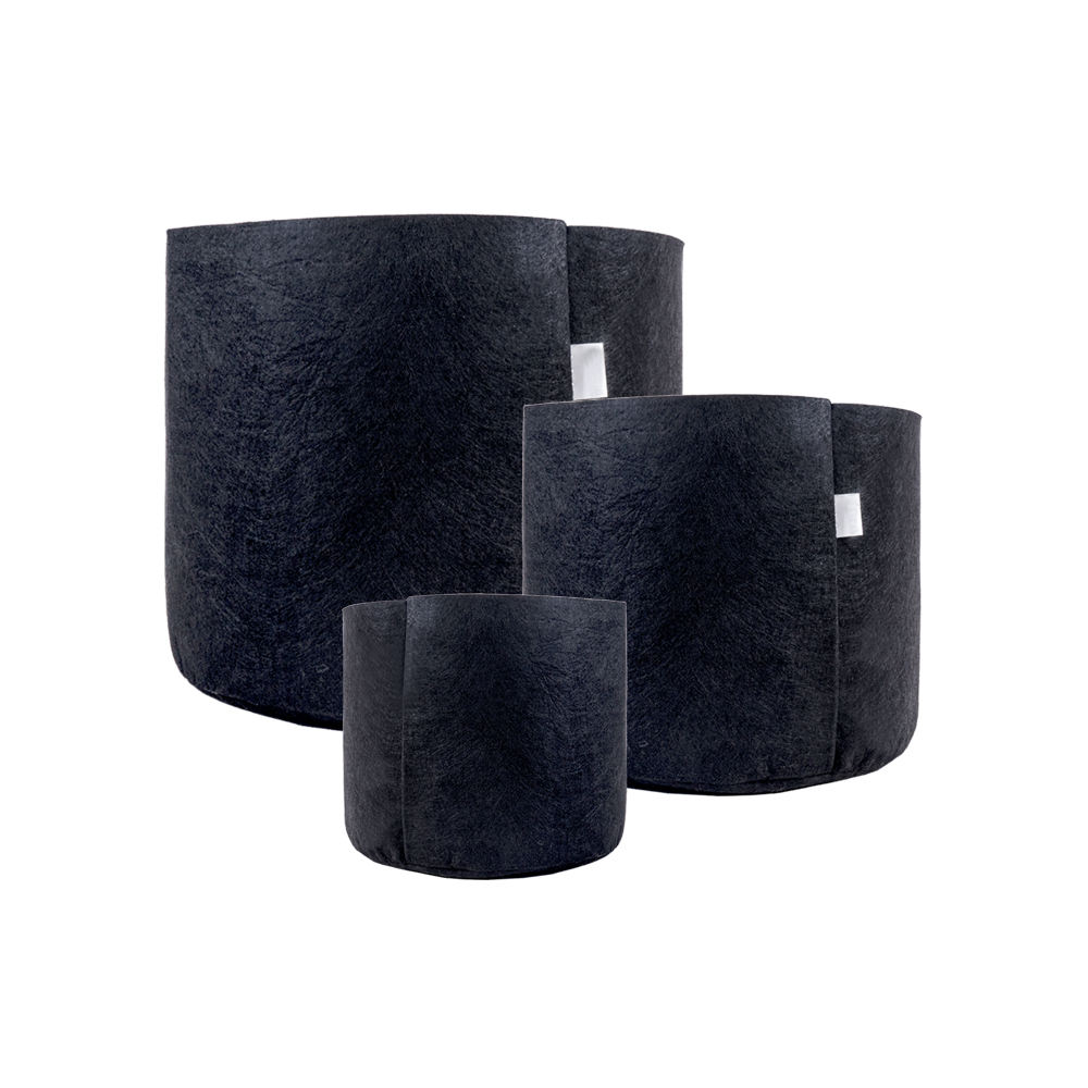 Low Price Black farbe Fabric wachsen Pots Plant Bags