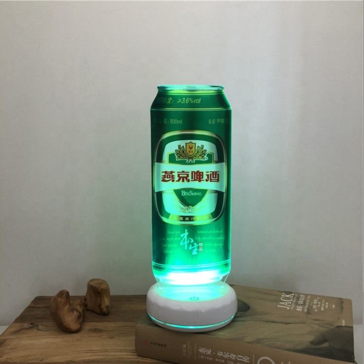 3D attractive desktop sign board Led night lamp charging customize laser cut acrylic logo indoor advertising lightbox