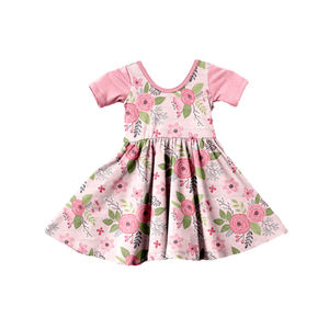 Dropshipping OEM/ODM China Cheap Wholesale Children Kids Clothing Wear Summer Spring Flower Girl Kids Floral Cotton Dress