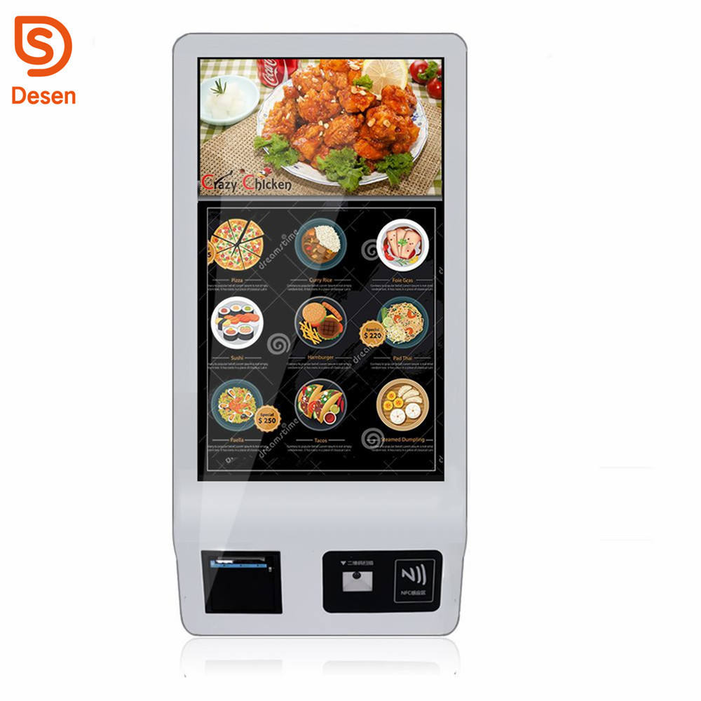 fast food 32 Inch Kiosk Touch Order Payment Self Service Kiosk touch screen kiosk price