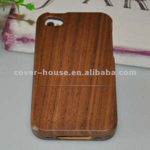neuankömmling fall natürliche bambo holz case für iphone 4 4s