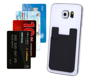Guangdong wholesale OEM mobile wallet 3M self-adhesive slim silicone phone card pocket for Europe