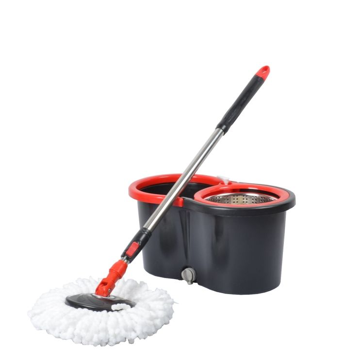2018 china mucrofiber dust mop new plastic bucket magic spin of mop