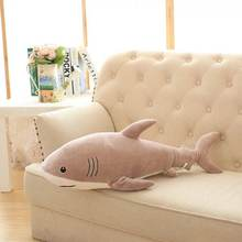 Wholesale cheap sea animal plush toy shark fashion LOW MOQ mix color soft stuffed plush shark doll(brown)