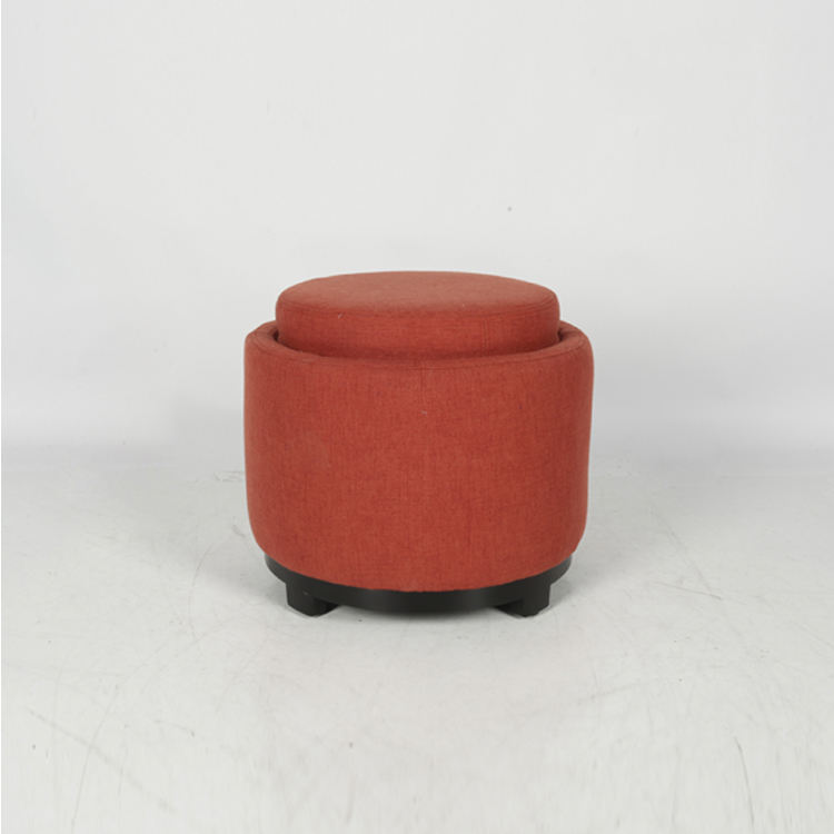 Latest Hot Selling High quality popular red foot stool storage ottoman round