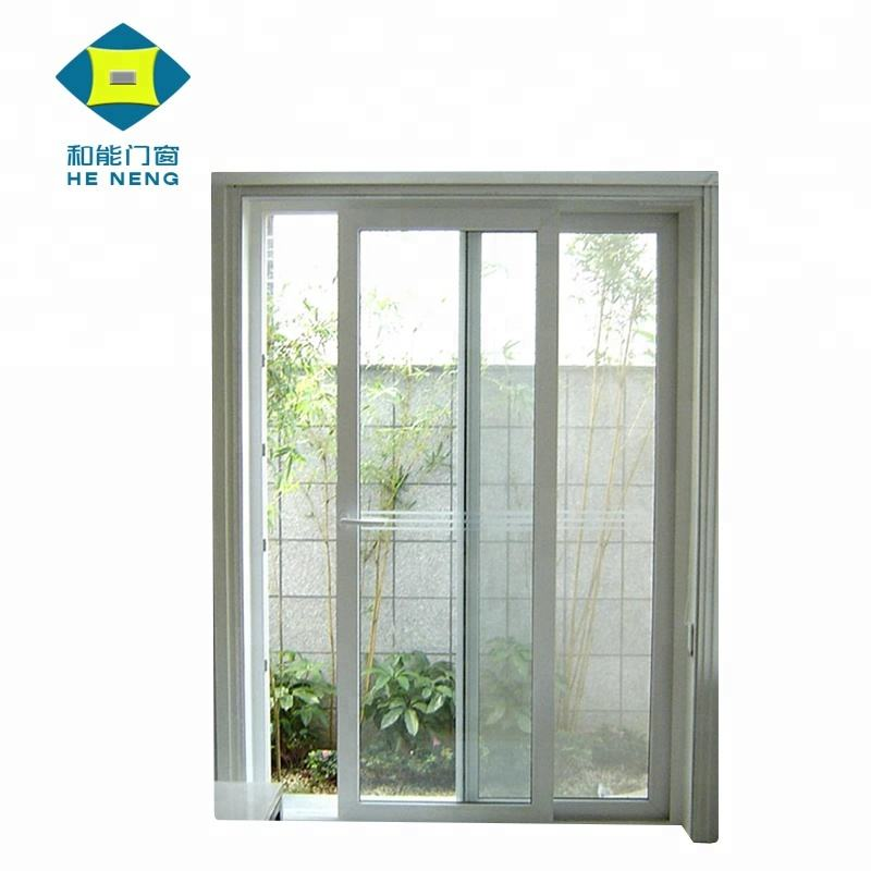 Wholesales Good Price PVC Balcony Kitchen Toilet Door Plastic Tempered Glass Sliding Door
