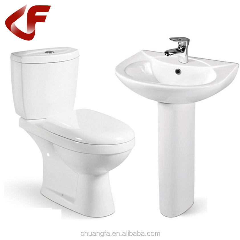 Good quality Popular floor mounted types of S-trap / P-trap two-piece water closet toilet