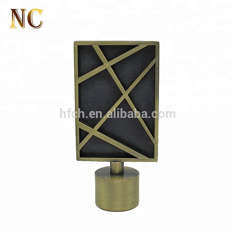High quality best selling antique brass metal curtain rod finials