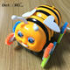 Detoo 360 degree stunt car toys bee 3wheels running children toys electric car tumbler toys for kids