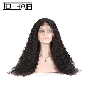 TD HAIR Factory Supply 360 Lace 정면 Wig 와 density 180%-200% 표백 Knots 13X4 레이스 정면 swiss Lace Women (Glueless)