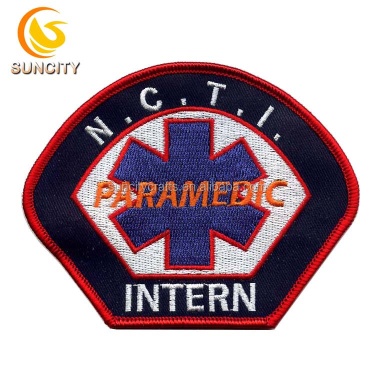 2018 Hotsale custom logo for PARAMEDIC INTERN iron on embroidery patch for uniform