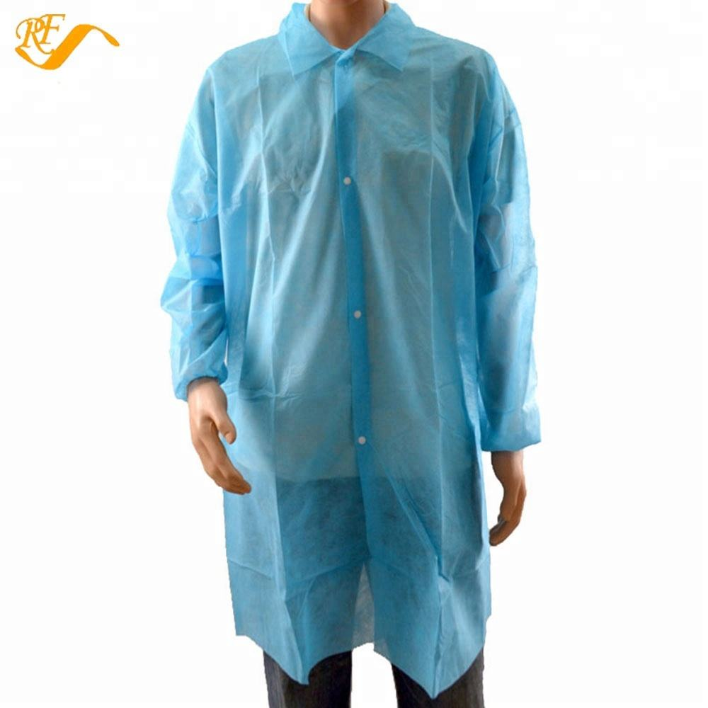 Non Tenun Laboratorium Mantel Polypropylene Disposable Laboratorium Coats
