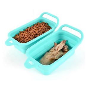 Collapsible Cat Dog Silicone Bowl Portable Pet Feeder and Drinking Bowl foldable bowl and feeders