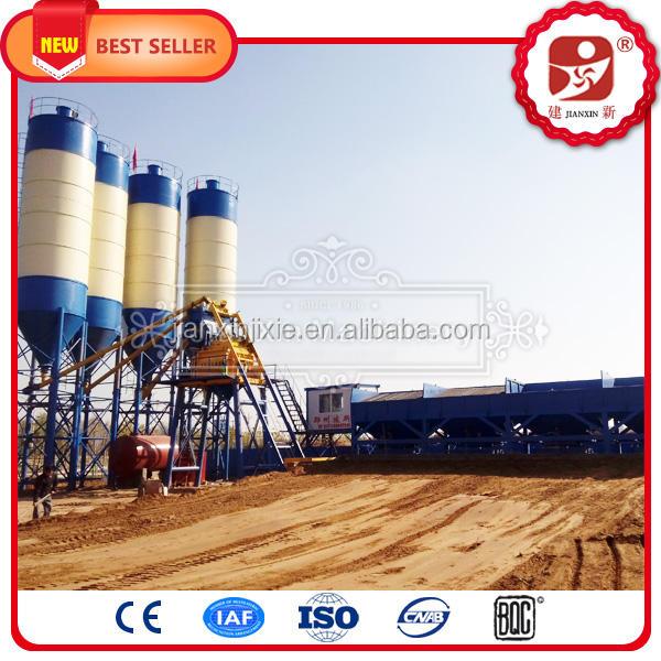 Совокупный бункер бетоносмесительные <span class=keywords><strong>станции</strong></span> 75m3/ч бетонный завод в китае с js1500 двухвальный смеситель