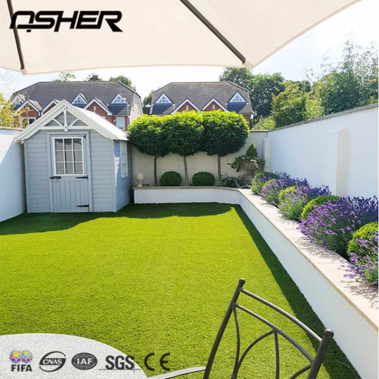 Free Samples ASHER Wholesale Cheap Green Synthetic Turf Artificial Grass Lawn