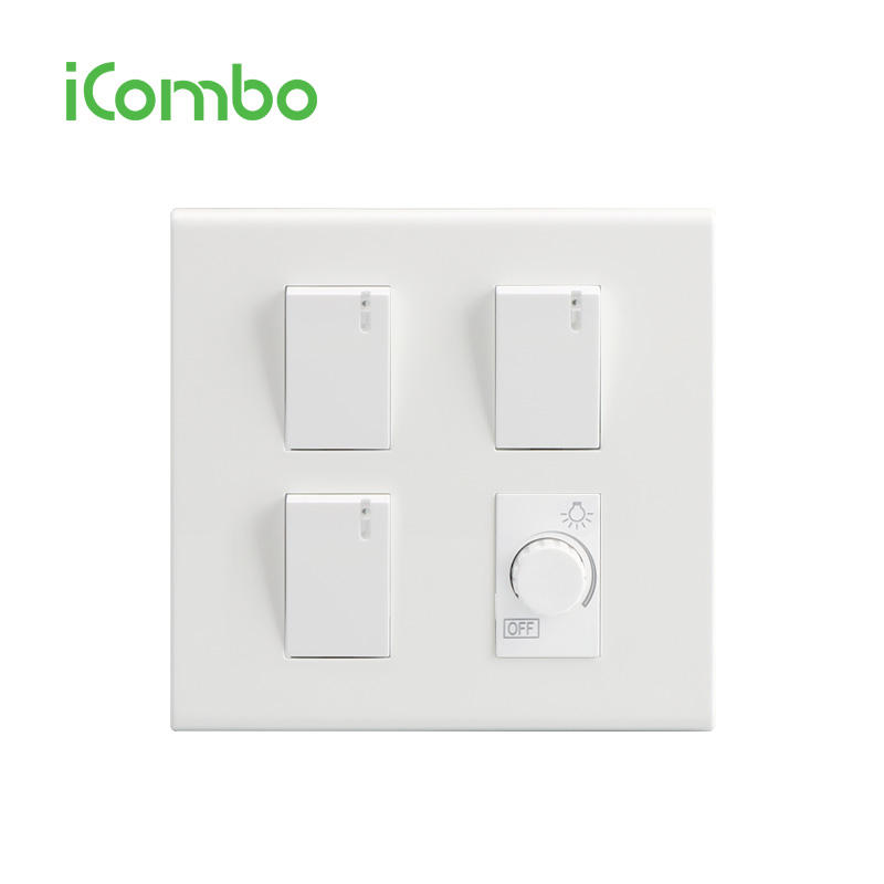 Popular 3 Gang Led Light Switch and Switch Dimmer For Thailand Market
