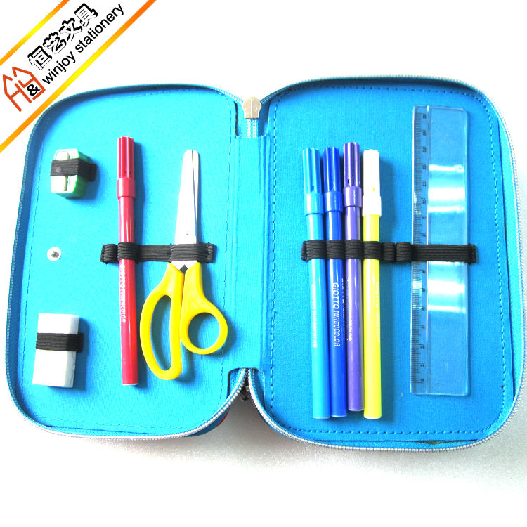 OEM Logo Printing Back to School Supplies with Stationery Set in Pencil Bag