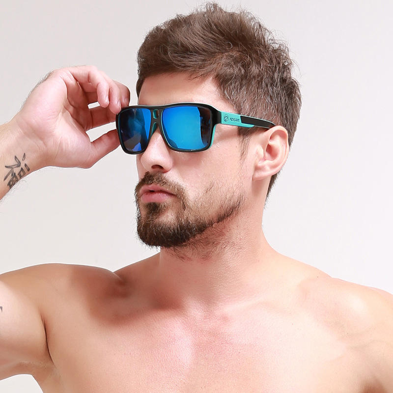 KDEAM KD520 men's fashion sun glasses 2019 new design double beam outdoor sports sunglasses polarized