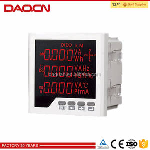 China fabricage professionele digitale ac 3 fase voltmeter