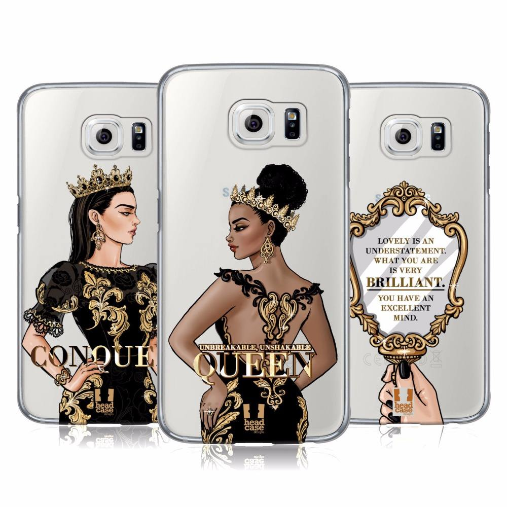 head case designs conquer golden queen golden mirror print clear hard plastic phone case cover for iPhone 11 pro max xs xr 6 7 8
