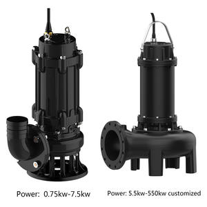 Electric wastewater sewage cutting submersible pump
