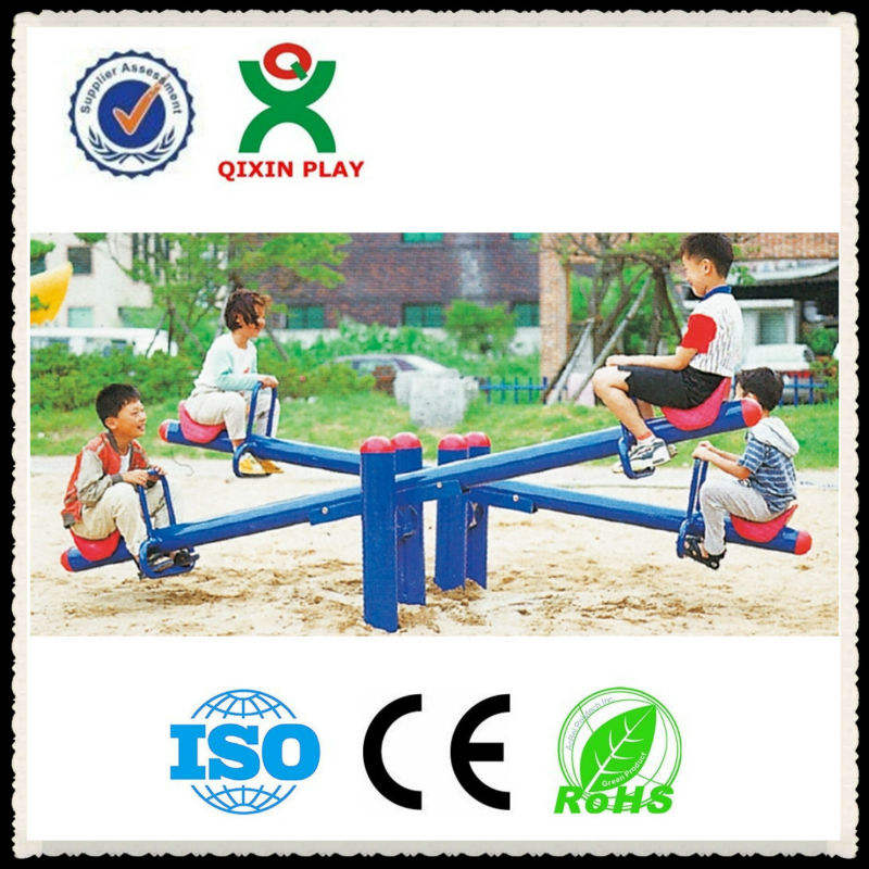 2014 newest Kids metal seesaw sets/metal seesaw/plastic rocking seesaw for 4 children QX-095B