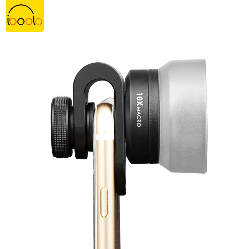 IBOOLO 2019 phone camera gadget 25MM Professional HD 10x Macro Lens for mobile phone