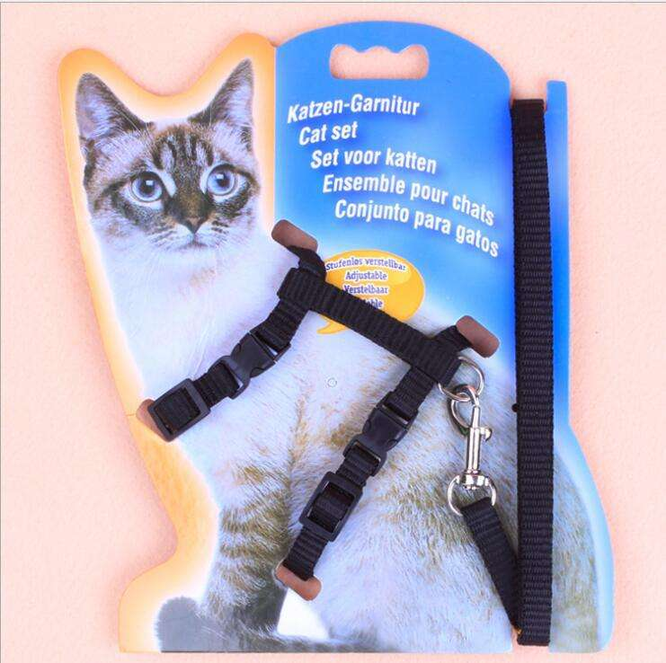 Pet Cat Harness And Leash For Kitten Adjustable Pet Traction Harness Belt Cat Halter Collar
