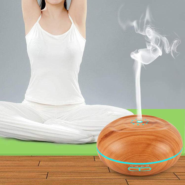 Humidifier Supplier Wood Grain Usb Ultrasonic Aroma Essential Oil Diffuser for Office
