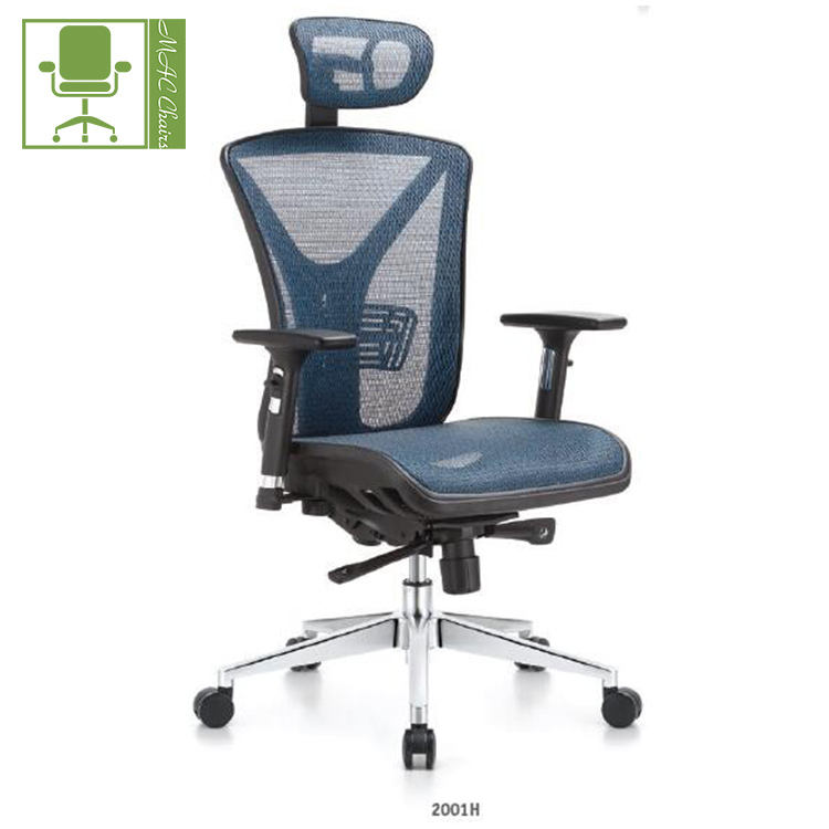 New design fashionable ergonomic full mesh multi office chair swivel chair with adjustable armrest headrest