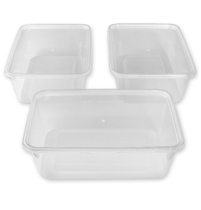 eco friendly restaurant black rectangular plastic pp microwave disposal food takeaway container
