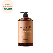 Natural Mild Best Argan Oil Private Label Shampoo Sulfate Free Paraben Free Keratin Repair Hair Care Shampoo