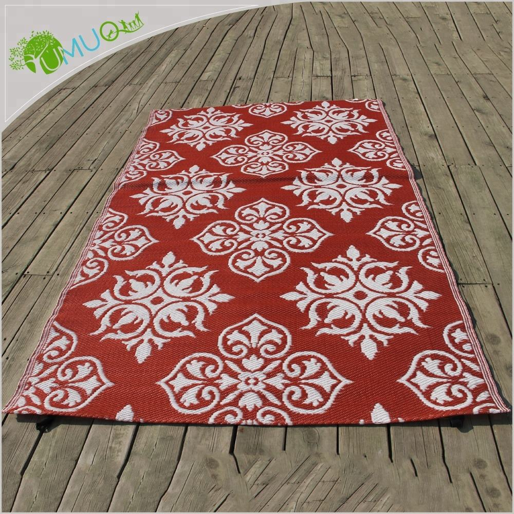 UV Fade Resistant Recycled PP / Plastic Jacquard Sand Free Beach Mat
