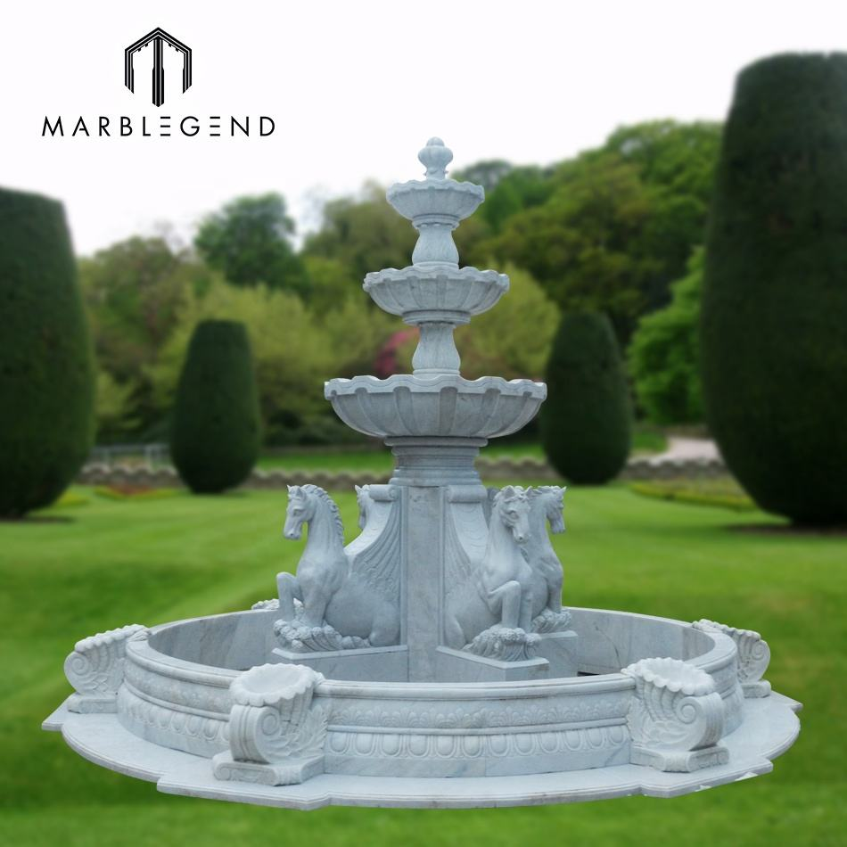 PFM hand carved garden marble fountain large outdoor water fountains