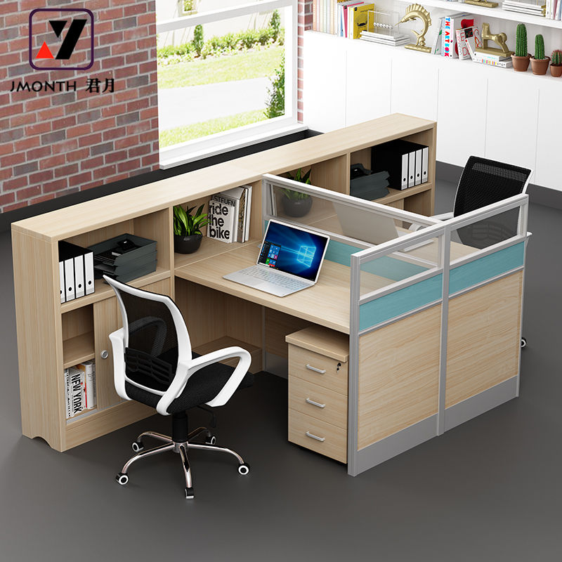 Commercial Furniture Modern Two People Office Furniture/ Counter/ Workstation