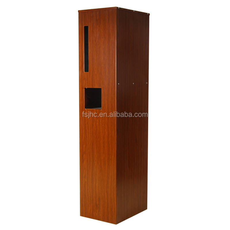 New arrival locking mailbox/free standing letter box/wood grain letterbox