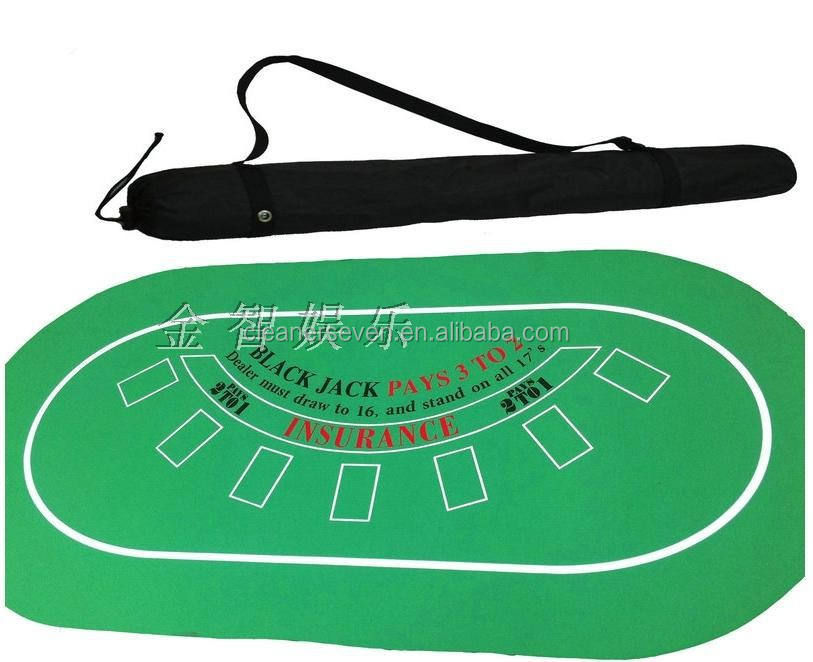 Texas holdem poker tafelblad sublimatie rubberen mat, anti- slip digitale print poker mat