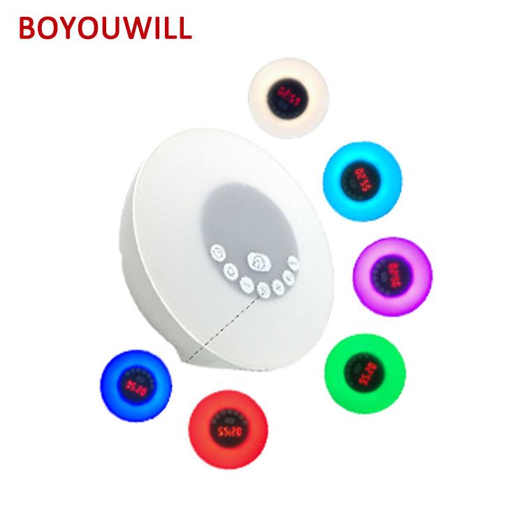 OEM mode Veille Réveil ihome Sans Fil Chambre BT Coloré LED haut-parleurs De Lumière De Nuit