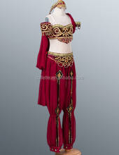 2014 New !!! MBL1041-2 Girl's beautiful sexy Professional Indian belly dance costume