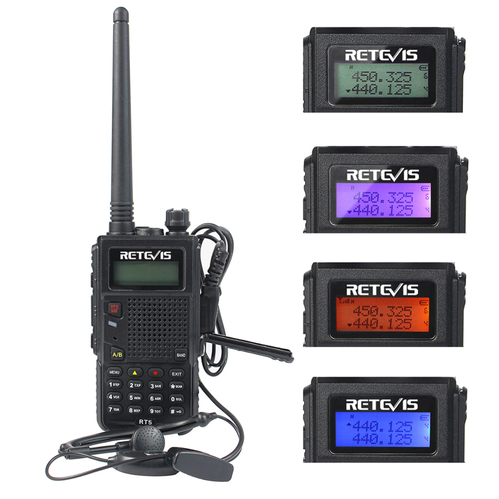 Retevis RT5 Dual Band <span class=keywords><strong>UHF</strong></span>/VHF sicherheit Walkie Talkies 136-174/400-520 MHz 128 Kanal VOX DTMF FM Radio 1750Hz Two Way Radio