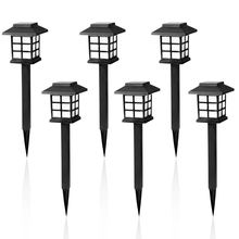 Modern Courtyard Design Decorative Pathway Yard Outdoor Solar Light Garden