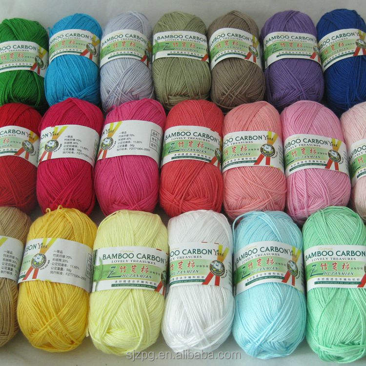 Wholesale Soft Crochet thick baby rayon bamboo yarn