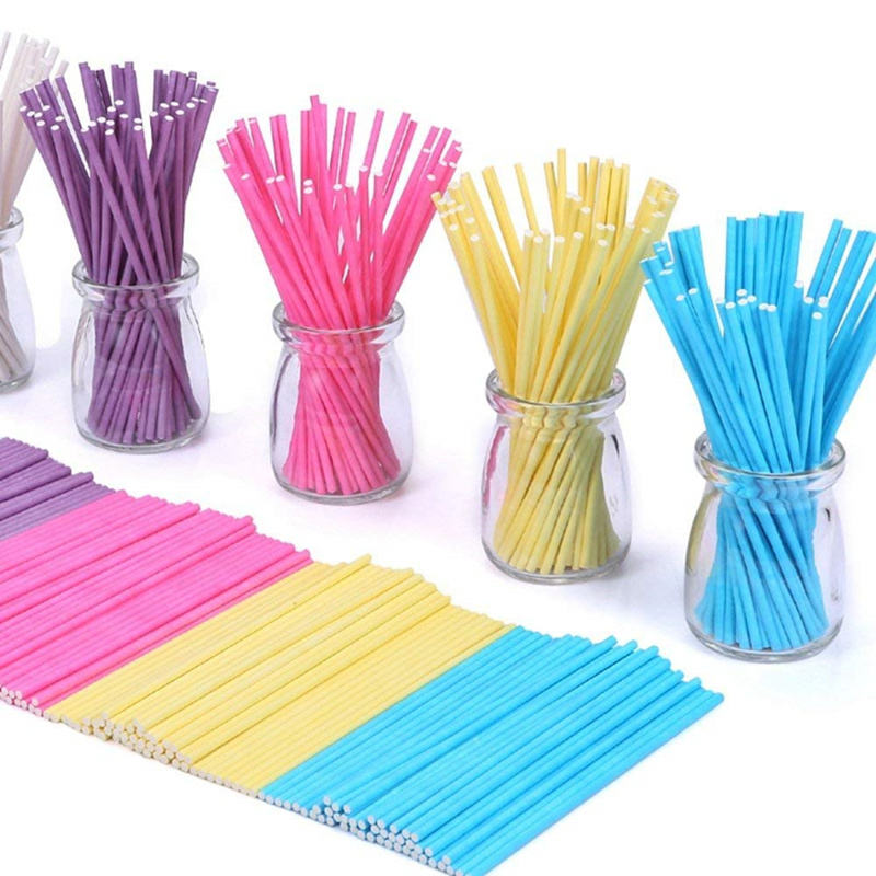 "Bulk fabrikanten home decor 6 ""pastel chocolade suiker ijs glow lange sucker plastic cake pop lollypop sticks"