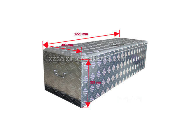 Aluminum Trailer Tongue Lockable Tool Box Cabinet