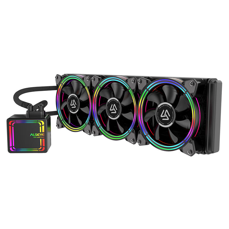 ALSEYE H360 CPU Cooler RGB Water Cooling 120mm PWM Fan Water Cooler for LGA 775/115x/1366/2011/AM2/AM3/AM4