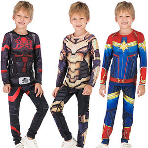 Hot Sale Superhero Costumes Marvel Sport Tshirt And Pants For Children
