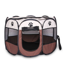 Dropshipping S size Portable Foldable Playpen Pet Dog Crate Room Puppy Exercise Kennel roof medium  indoor female dog playpen